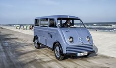 1956 DKW Elektro Schnellaster | From 1955 to 1962, DKW built a limited-production electric version of its Schnellaster Kastenwagen delivery van, targeted to niche customers. Just 100 examples were assembled, and only two are known to survive today. Following a restoration by Audi Tradition, one of these surviving Elektro Schnellaster vans is set to become part of Audi's museum mobile in Ingolstadt, Germany.