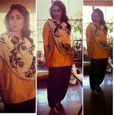 Kareena Kapoor Wear Beautiful Patiala Salwar Kameez New Fashion Suits  by Bollywood Designers-7