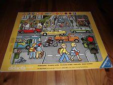 """didacta Rahmenpuzzle Ravensburger """"Straßenverkehr"""" 44 Teile 1979 Vintage"""