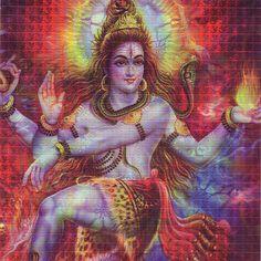 Psychedelic Shiva LSD Blotter Art
