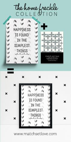 Customer favourite Printable Wall Art Poster - happiness is found in the simplest things