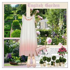 """""""English Garden - Day Time"""" by pat912 ❤ liked on Polyvore featuring Poolhouse, Semilla, Nearly Natural, Napa Home & Garden, country and polyvoreeditorial"""
