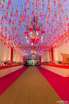 Picture from Clique Events and Entertainment Photo Gallery on WedMeGood. Browse more such photos & get inspiration for your wedding Marriage Hall Decoration, Wedding Hall Decorations, Desi Wedding Decor, Wedding Mandap, Engagement Decorations, Tent Decorations, Wedding Poses, Wedding Walkway, Wedding Entrance