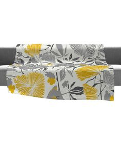 Take a look at this Gray & Yellow Bryant Park Throw Blanket by DENY Designs on #zulily today!