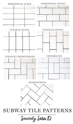7 Different Subway Tile Patterns - Sincerely, Sara D. - 7 Different Subway Tile Patterns – Sincerely, Sara D.
