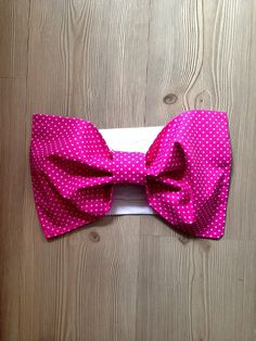 Pink Bow Bandeau Top with White Polka Dots Beach Women by SWANTREE
