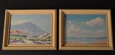 """M. GANDE Pair of Oils on Board. Size : 14.5"""" x 12"""""""