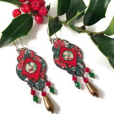 Boho Recycled Tin Holiday Earrings
