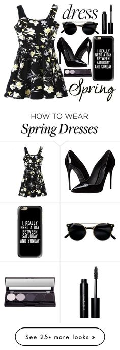 """spring dress"" by j-n-a on Polyvore featuring Bobbi Brown Cosmetics, Casetify, Dolce&Gabbana, Spring, springfashion and springtrend"