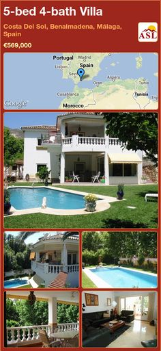 5-bed 4-bath Villa in Costa Del Sol, Benalmadena, Málaga, Spain ►€569,000 #PropertyForSaleInSpain