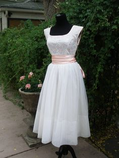 1950's Emma Domb pink party dress
