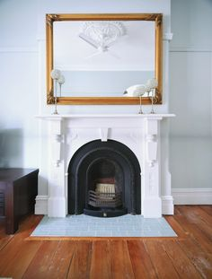 Classic subway tiles are a favourite among decorators and it's easy to see why –they're versatile, budget-friendly and suit just about any home style. Use our guide to help you choose the perfect style for your interior. Fireplace Hearth Tiles, Victorian Fireplace Tiles, White Fireplace, Bedroom Fireplace, Fireplace Remodel, Fireplace Surrounds, Fireplace Mantels, Fireplace Backsplash, Fireplace Ideas