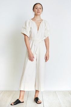 18d674559600 Apiece Apart Soleil Balloon Sleeve Jumpsuit - Cream