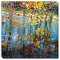 Maxine Price's 'Dancing on the Water' Canvas Gallery Wrap Art - Overstock™…
