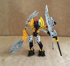 8912 Lego Bionicle Toa Mahri Toa Hewkii complete action figures yellow #LEGO