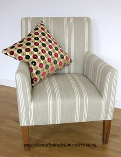 chair in Ian Mankin Harvest Stripe 6