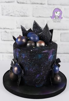 Snarky Sweet Cake Chick Photo Gallery Birthday Cakes Wedding Cakes Special Occasion Cakes Contact me now for a free quote! Beautiful Cakes, Amazing Cakes, Teen Boy Cakes, Galaxy Desserts, Planet Cake, Galaxy Cake, Fathers Day Cake, Birthday Desserts, Snacks Für Party