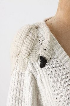Swan - such a pretty detail! Cardigan from Anthropologie, unfortunately sold out.