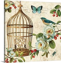 Lisa Audit Premium Thick-Wrap Canvas Wall Art Print entitled Free as a Bird II