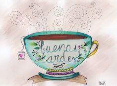 Lámina Buenas tardes de Ninuk por DaWanda.com