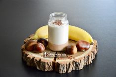 Recette de milk-shake à la banane et crème de marron au cacao pour bébé (Dès 18 mois). Un petit régal pendant la diversification alimentaire de bébé !
