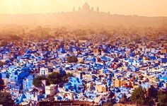 Jodhpur, India  Known as the blue city, Jodhpur in India is a sight that will remain with you forever once you see it from the royal balconies of the towering Mehrangarh Fort.   10 of the Most Colorful Cities in the World