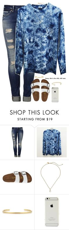 """""""people fall in love in mysterious ways.."""" by kaley-ii ❤ liked on Polyvore featuring Mavi, Birkenstock, Kate Spade, Jennifer Fisher and Kendra Scott"""
