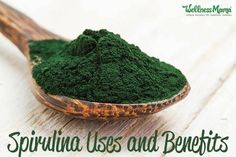 "The health benefits of spirulina are undeniable. Spirulina is hailed as a superfood that promotes body and brain health. This blue-green ""miracle"" algae grows naturally in oceans and salty lakes in subtropical climates. Food Porn, Valeur Nutritive, Wellness Mama, Calendula Benefits, Stomach Ulcers, Coconut Health Benefits, Insect Bites, Protein Sources, Protein Foods"