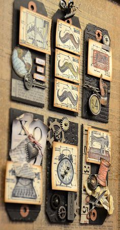 #papercraft #tags do four or six tags like this and place them in a shadowbox