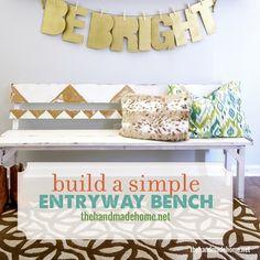 build a simple entryway benchthe handmade home