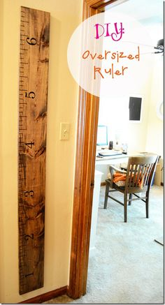 The Jolly James Diy Growth Chart Oversized Ruler I Have This And Its Great Amy Hobby Lobby