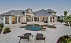 Luxurious contemporary coastal home designed by Weber Design Group, Inc.