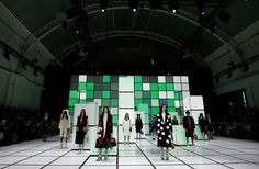 From candy stripes to spaceships, these sets are anything but ordinary. Fashion Runway Show, Candy Stripes, Set Design, Who What Wear, Showroom Ideas, Spaceships, Fashion Trends, Stage Design, Space Crafts