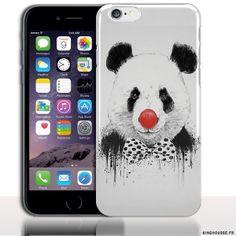Housse Silicone iPhone 6s Panda Clown - Protection Souple design Customisé. #iPhone6s #Panda #Fashion