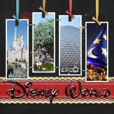 Disney Scrapbook Layouts -- good idea.  Doesn't just have to be Disney