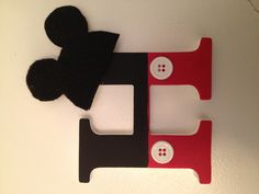Mickey Mouse monogram I made for our house! Mickey Mouse Classroom, Mickey Mouse Clubhouse, Mickey Minnie Mouse, Disney Mickey, Disney Diy Crafts, Disney Fun, Disney Ideas, Disney Scrapbook Pages, Mickey Party