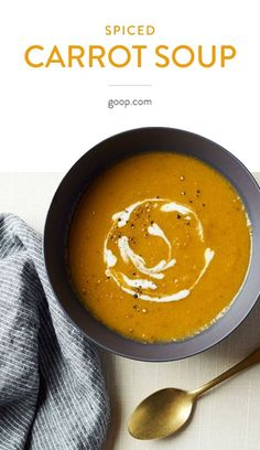 An easy recipe for a spiced carrot soup that's a great vegetarian lunch or dinner for summer, fall, winter, or spring