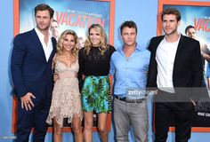 Chris Hemsworth, Elsa Pataky, Samantha Hemsworth, Luke Hemsworth and Liam…