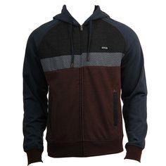RVCA Mens Sweatshirt Tripper Bourgeois Blue