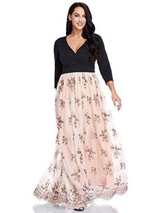Women's Plus Size Sequin Sleeves Evening Gown Party Long Maxi Dress This long dress features solid slim bodice to keep it modest, surplice neckline make you look sexy. Perfect for evening party, formal, club or other special occasions. Very Short Dress, Sexy Long Dress, Plus Size Maxi Dresses, Short Sleeve Dresses, Prom Dresses, Long Dresses, Trendy Dresses, Cheap Dresses, Wedding Dresses