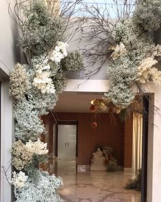 Wedding Flower Decorations, Bridal Flowers, Gypsophila Wedding, Flower Installation, Perfect Day, Hanging Flowers, Flower Wall Decor, Indoor Wedding, Floral Bouquets