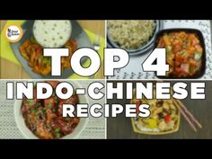 Top Indo chinese recipes (Chicken Manchurian, chicken jalfrezi, dragon chicken & Kung Pao Chicken) - YouTube