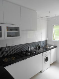 Cozinha preto e branco