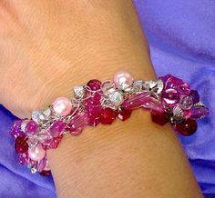 Exquisite Silvertone Wire Crochet Bracelet with by artistrcool, $12.00