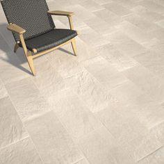 Carrelage sol beige clair aspect pierre Lazy l.30 x L.60 cm