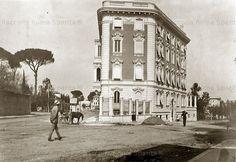 Foto storiche di Roma - Via Giovanni Paisiello, angolo via Emilio de Cavalieri Anno: Primi '900