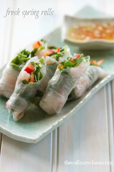 fresh spring rolls - tasty gluten free appetizer
