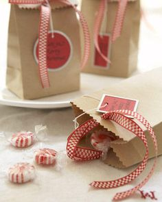 brown paper sacks with cookies