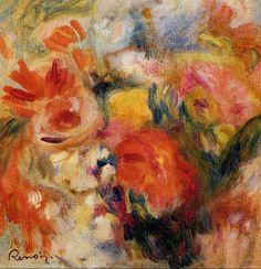 Renoir painted such luscious flowers