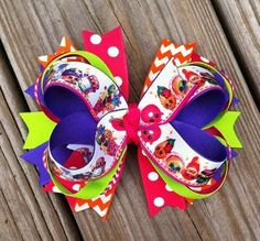Shopkins Layered Hair Bow by MiaBellaCrafting on Etsy